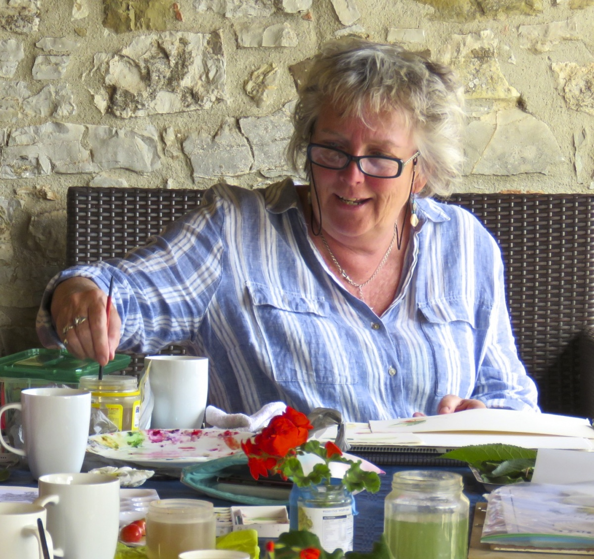 Belinda Biggs will be running a course in the Himalayas in 2018 with Arte Umbria and Painting in Europe
