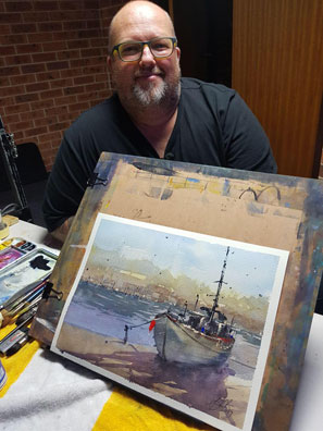 Tony white painting course with Painting in Europe 2020